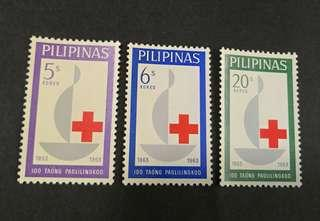 Philippines 1963. The 100th Anniversary of International Red Cross complete stamp set
