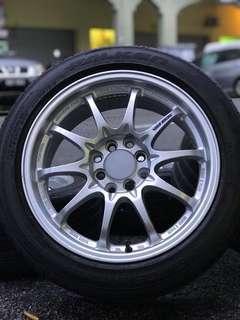 Ce28 16 inch sports rim vios tyre 70%