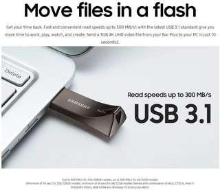 Samsung BAR Plus 128GB - 300MB/s USB 3.1 Flash Storage Drive