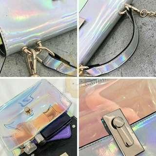 [ READY STOCK ] CUTE REFLECTIVE TRANS SLINGBAG
