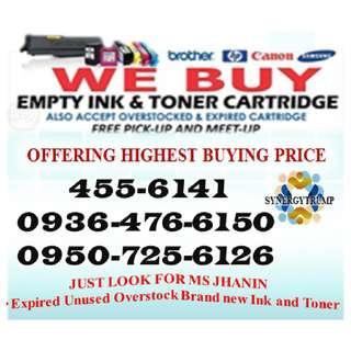 Expired Unused High Price Buyer of Empty Ink Cartridges and Toner