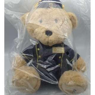 """香港香格里拉酒店 Shangri-La Hotels and Resorts Hong Kong Peter Bellhop Plush Stuffed BEAR  9"""""""