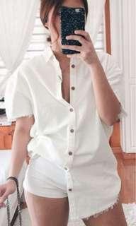Oversized White Polo