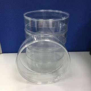圓形透明塑膠收納盒 雜物盒 禮物盒 包裝盒