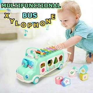 Multifunction bus toy