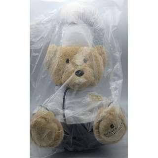 """香港香格里拉酒店 Shangri-La Hotels and Resorts Hong Kong Tom Chef Plush Stuffed BEAR 9"""""""