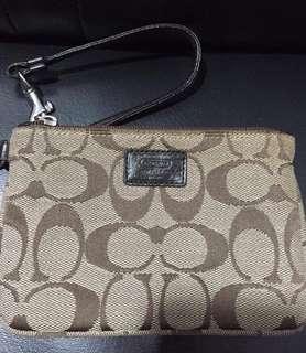 Coach wristlet wallet not tote bag lv mk burberry guess lacoste mcm daks metrocity