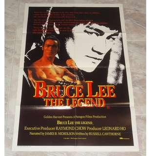 Bruce Lee The Legend Australian Original 1 Sheet Movie Poster 1984 Hong Kong Golden Harvest