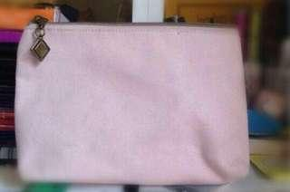 pastel pink make up pouch/ pencil case