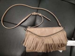 Bnwt charles and keith beige  sling bag