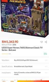 Lego super heroes 76052 batman classic tv series batcave credit card accepted
