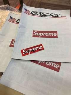 🔴 Supreme New York Post Newspaper ( HK AAA )