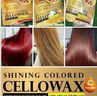 Hair color cellowax