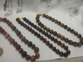 天然晶石項鍊
