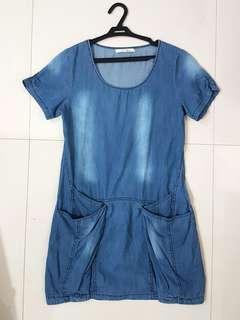 SALE! Soft Denim Dress with pockets