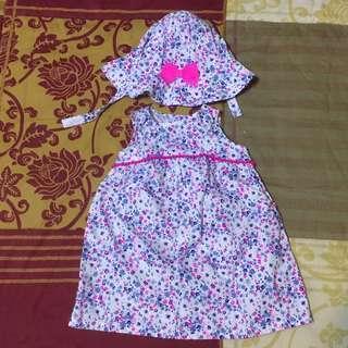 Carter's Floral Dress & Hat Set
