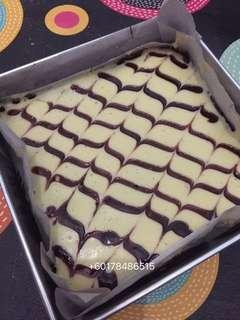 Brownies Cheese Blueberrys