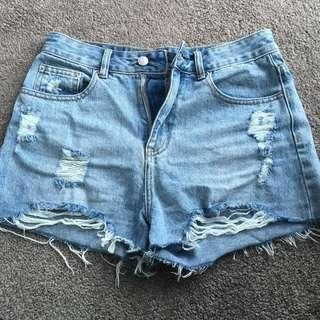 Glassons size 8 denim shorts