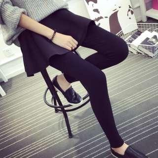 🚚 #十一月女裝半價 韓國進口布料 現貨 秋冬空氣層層次百搭裙褲