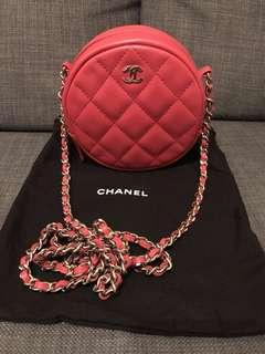 Chanel pink mini bag circle round