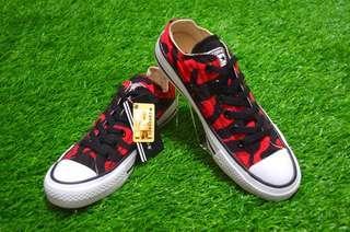Sepatu Converse All Star Army Red Hi