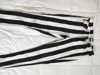 Topshop striped jeans