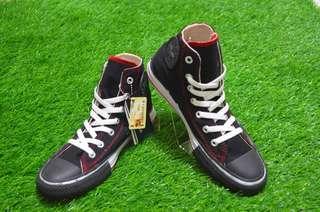 Sepatu Converse All Star Black Lining Red Hi