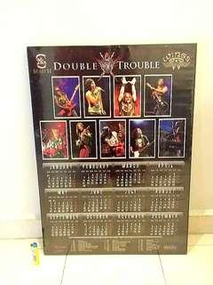 Framed concert calendar posters double trouble