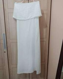 Dress putih panjang size small