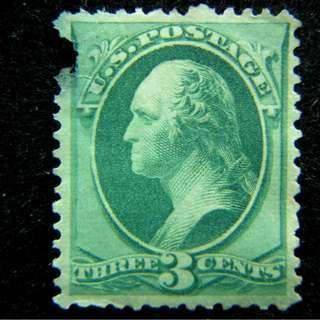1880年美國故總統華盛頓像3仙郵票