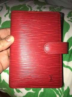 FIRM ON PRICE. Authentic Louis Vuitton Epi Red Agenda