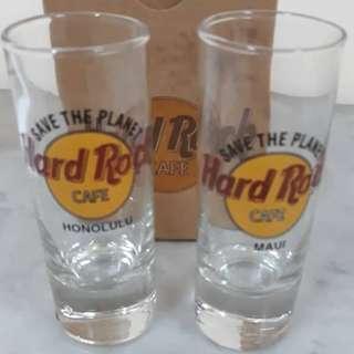HARD ROCK CAFE SHOT GLASS HONOLULU AND MAUI HAWAII RM50 EACH NEW
