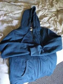 Mens Wave Zone Hoodie faux-Fleece lined size small near new