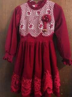 女童絨布洋裝