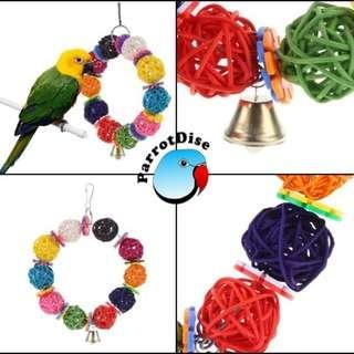 parrot bird Colourfull vine swinging toy