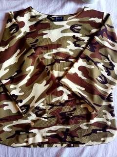 Scuba army blouse