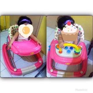 Pink polka walker