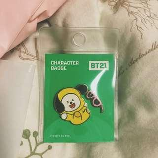 bt21 chimmy enamel pins