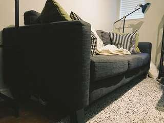 Charcoal grey couch