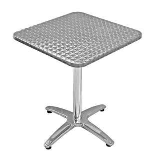 [USED] 2 PCS ALUMINIUM STAINLESS STEEL SQUARE TABLE 700 X 700MM