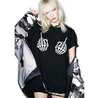 Harajuku punk print shirt