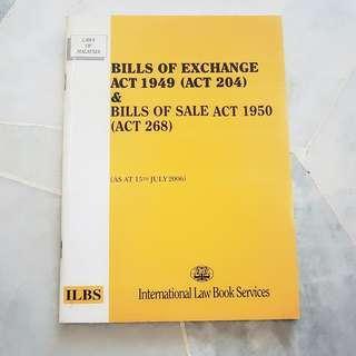 [USED] BILLS OF EXCHANGE ACT 1949 ( ACT 204 ) & BILLS OF SALE ACT 1950 ( ACT 268 )