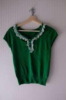 Semiformal green top