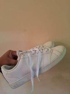 adidas neo advantage full white stripe navy bukan zara pull&bear