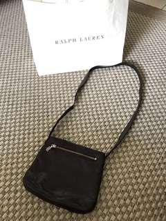 RALPH LAUREN LEATHER SLING BAG
