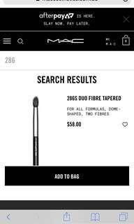 MAC 286 brush