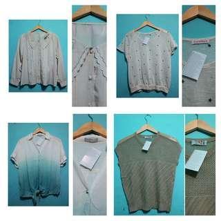Baju import wanita new tag 100 4pcs