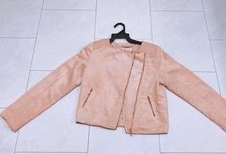 H&M Pink Suede Jacket (Brand New)