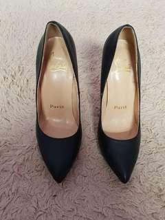 Christian L heels mirror quality