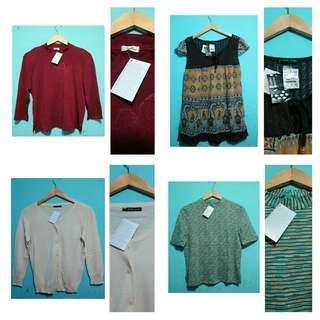 Baju import wanita new tag 100rb 4pcs